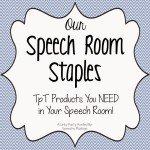 Speech Room Staples (linky party)