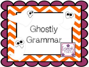 Ghostly Grammar! (FREEBIE!!)