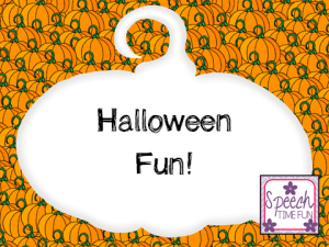 Halloween Fun! (How I am using some TpT products, freebies, finds, and more in my speech room this week!)