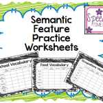 Semantic Feature Practice Worksheets
