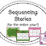 Sequencing Stories for the entire year!! (perfect for working on sequencing and recall of 3 paragraph stories!)