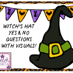 Witch's Hat Yes/No Questions with Visuals! ((FREEBIE!!))