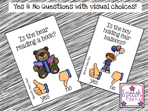 yes no questions with visual choices speech time fun speech