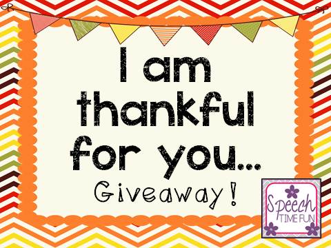 I am thankful for you…GIVEAWAY!  (WIN 5 TpT PRODUCTS!!)
