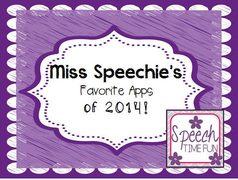 Miss Speechie's Favorite Apps of 2014!