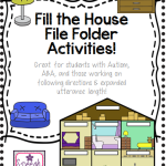 Fill the House: File Folder Activity (Great for students with Autism, ABA, and more!)