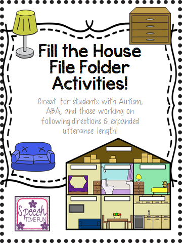 Fill the House: File Folder Activity (Great for students with Autism