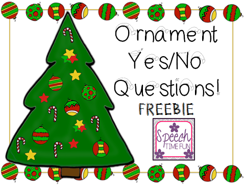 Ornament Yes/No Questions FREEBIE!!