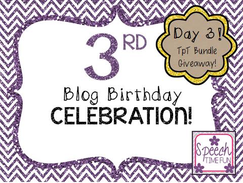3rd Blog Birthday! Day 3: TpT Bundle Giveaway!!