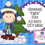 "Snowball ""Fight"" Fun!!  An easy DIY idea!!"