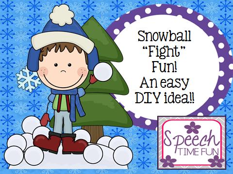 "Snowball ""Fight"" Fun!!  An easy DIY idea!!"