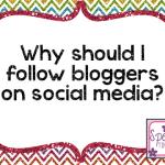Why should I follow bloggers on social media?
