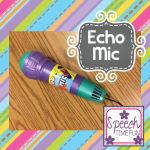 Echo Mic Fun!!  (tons of SLP ways to use this fun, cheap toy!)