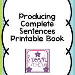 Producing Complete Sentences Printable Book!