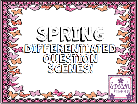 Spring Differentiated Question Scenes!