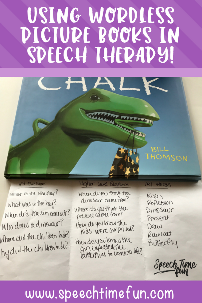 using wordless picture books in speech therapy