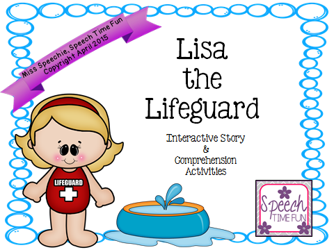 Lisa the Lifeguard Interactive Story and Comprehension Activities!!