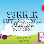 Summer Differentiated Question Scenes!