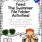 Feed the Swimmer File Folder Activities! (great for students with Autism, expanding utterance length, and more!)