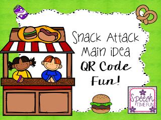 Snack Attack Main Idea QR Code Fun!