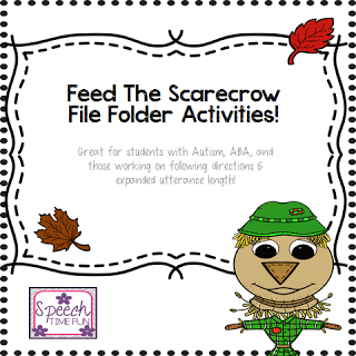 Feed The Scarecrow! (Great for students with Autism, ABA, expanding utterance length, and more!)