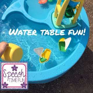 Water Table Fun: great way to promote language and social skills!