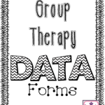 Group Speech Therapy Data Forms! (FREEBIE!)