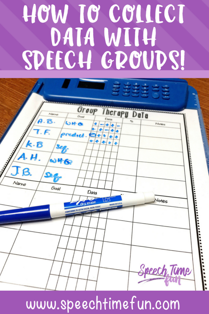 how to collect data with speech groups