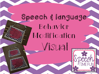 Speech & Language Behavior Modification Visual!