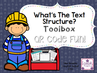 What Is The Text Structure? Toolbox! QR Code Fun!