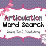 Articulation Word Search (Using Tier 2 Vocabulary)