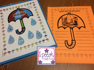 Teaching main idea doesn't have to be a challenge! This post shares information about a new resource I made, Teaching Main Idea Worksheets and Activities! Click through to learn what it includes and how you can use it in your speech therapy with students!