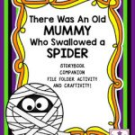 There Was An Old Mummy Who Swallowed a Spider Storybook Company File Folder Activity and Craftivity!