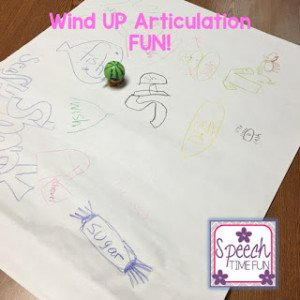 Sometimes you just need to DIY an activity in your speech room. I'm sharing this wind up articulation DIY activity that we did - super simple and super fun!