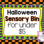 Halloween Sensory Bin for Under $5! (a fun, cheap, and easy DIY idea!)