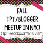 Fall TpT/Blogger Meetup in NYC!