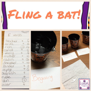 I'm all about DIY activities in speech, and one of my students loved this Fling the Bat Halloween-themed activity! Click through to read how it works!