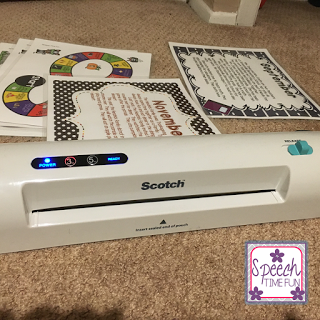 This post is dedicated to a few of my favorite things in my home office or my school office: my laminator, my book binding machine, and my printer. Click through to read what models I have and what I love about them!