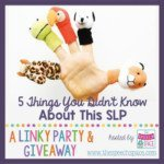 5 Things You Didn't Know About This SLP (linky party)