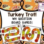 Turkey Trot! Thanksgiving WH Question Board Games!