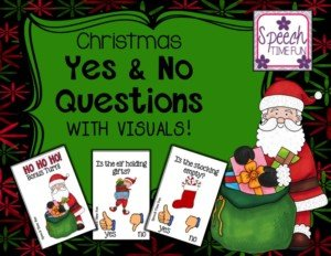 Christmas Yes and No Questions with Visuals