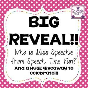 Have you been following Speech Time Fun for a long time? Are you wondering who Miss Speechie is? Click through to read this big reveal of myself in this blog post! That's right - I'm revealing who I am, and I'm celebrating everything I've learned and accomplished since starting Speech Time Fun as a blog and Teachers Pay Teachers store!