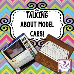 You can take pretty much any topic and turn it into the focus of a speech therapy lesson! One of my students was talking about model cars one day, so I turned it into our lesson on the fly! Learn what I did to create this lesson talking about model cars.