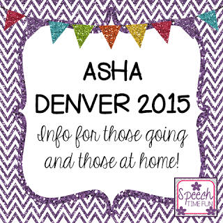 ASHA Denver 2015: Info for those going and those at home!
