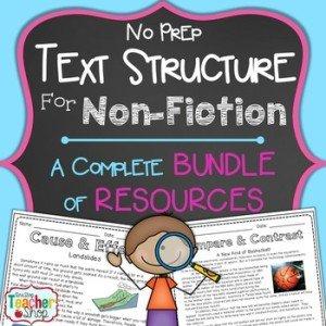No Prep Text Structure for Non-Fiction