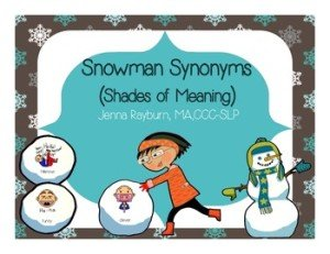 Snowman Synonyms Shades of Meaning