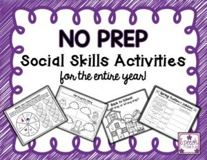 Click through to learn more about my No Prep Social Skills resource, which comes complete with themes to cover the entire year! I share more about what you get with this resource and how you can use it in your speech room in this blog post! No prep required - just print and go!