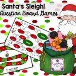 Santa's Sleigh! Christmas WH Questions Board Games!