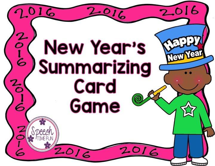 New Year's Summarizing Card Game FREEBIE!!!