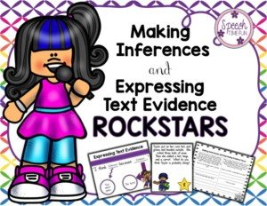 Two areas where all students need additional help and practice in both ELA and in speech are making inferences and expressing evidence. I've made a product that targets both of these skills in meaningful and engaging ways, so click through to read more about it here!